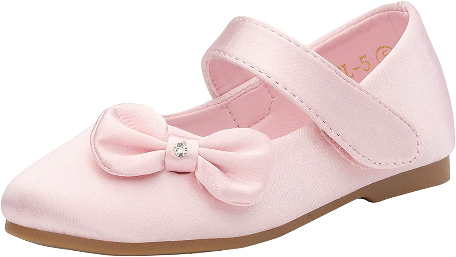 DREAM PAIRS Adorable Mary Jane Side Bow Buckle Strap Ballerina Flat (Toddler/Little Girl)