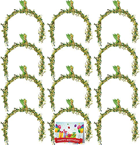 Tinkerbell Birthday Party Favor Headbands Bundle Pack of 12 -