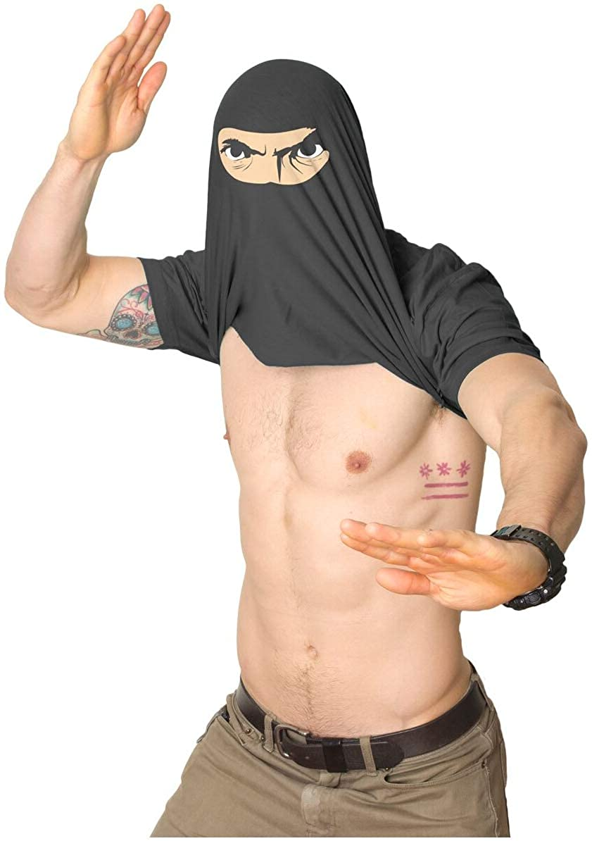 Mens Ask Me About My Ninja Disguise Flip Tshirt Funny Karate Costume Samurai Tee