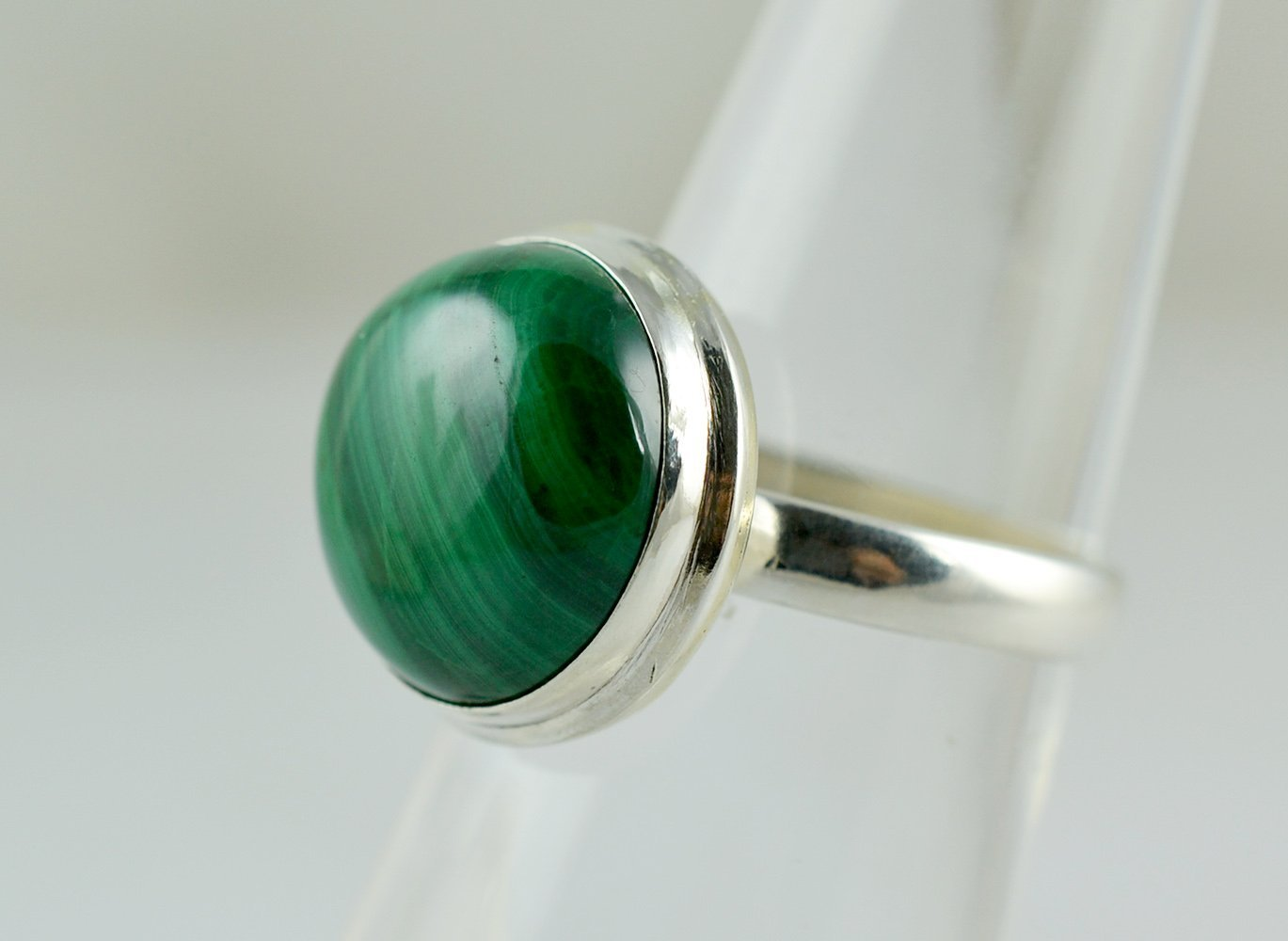 Malachite 925 Sterling Solid Silver Handmade Ring Size 3 to 13 US