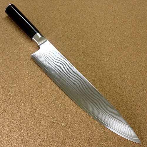 Japanese KAI SHUN Kitchen Gyuto Chef's Knife 250mm 9.8'' VG10 Damascus SEKI JAPAN ;TM79F-32M UGBA532695 by Lomenfly
