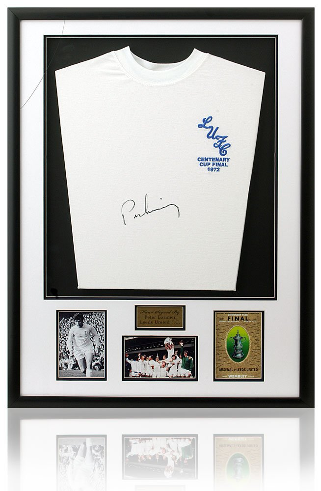 350bd6fe7 Peter Lorimer Hand Signed Leeds United 1972 Framed Shirt at Amazon s Sports  Collectibles Store