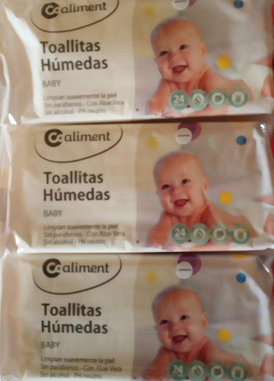 Toallitas húmedas BABY 72 uds Pack 3 * 24 / Sin alcohol ni ...