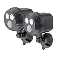 Mr Beams MB390 300-Lumen Weatherproof Wireless Battery Powered LED Ultra Bright Spotlight with Motion Sensorn