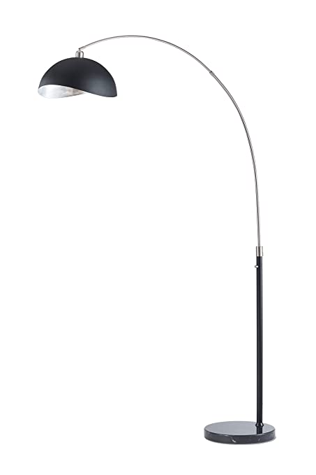 Nova Lighting 2111109 Luna Bella Arc Lamp, Silver