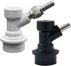 PERA Ball Lock Disconnect Set with 5/16 Swivel Nuts for Gas, 1/4 Barb for Liquid