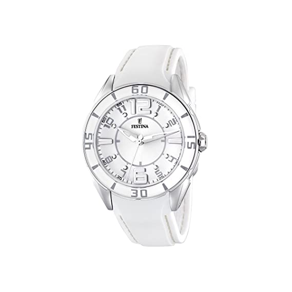 FESTINA F16492/1 - Reloj de mujer de cuarzo, correa de plástico, color blanco: Festina: Amazon.es: Relojes