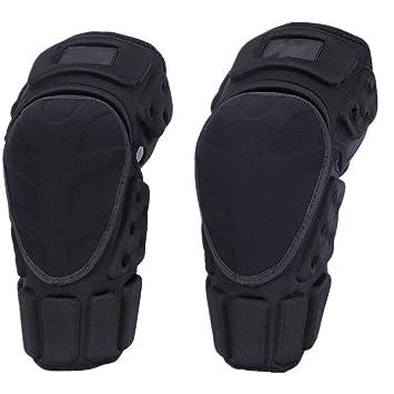 Rodilleras profesionales Almohadillas de protección de rodilla de fibra de aramida ajustable Almohadillas de torsión de MTB de motocross transpirable para ...