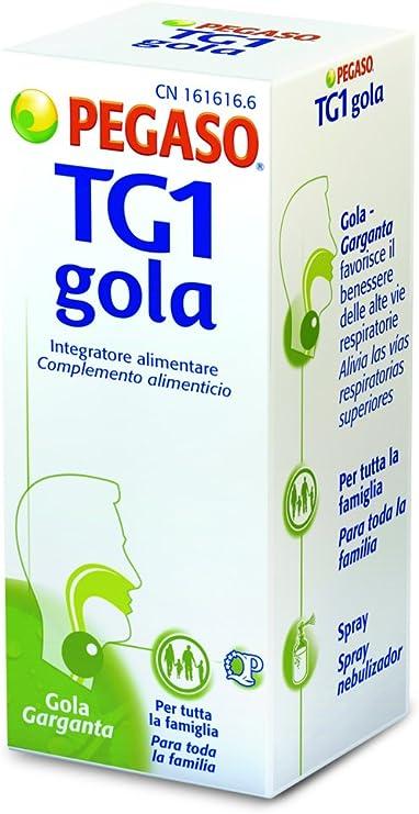 Pegaso Tg1 Gola Spray Per Il Benessere Delle Vie Respiratorie 30 Ml Amazon It Salute E Cura Della Persona