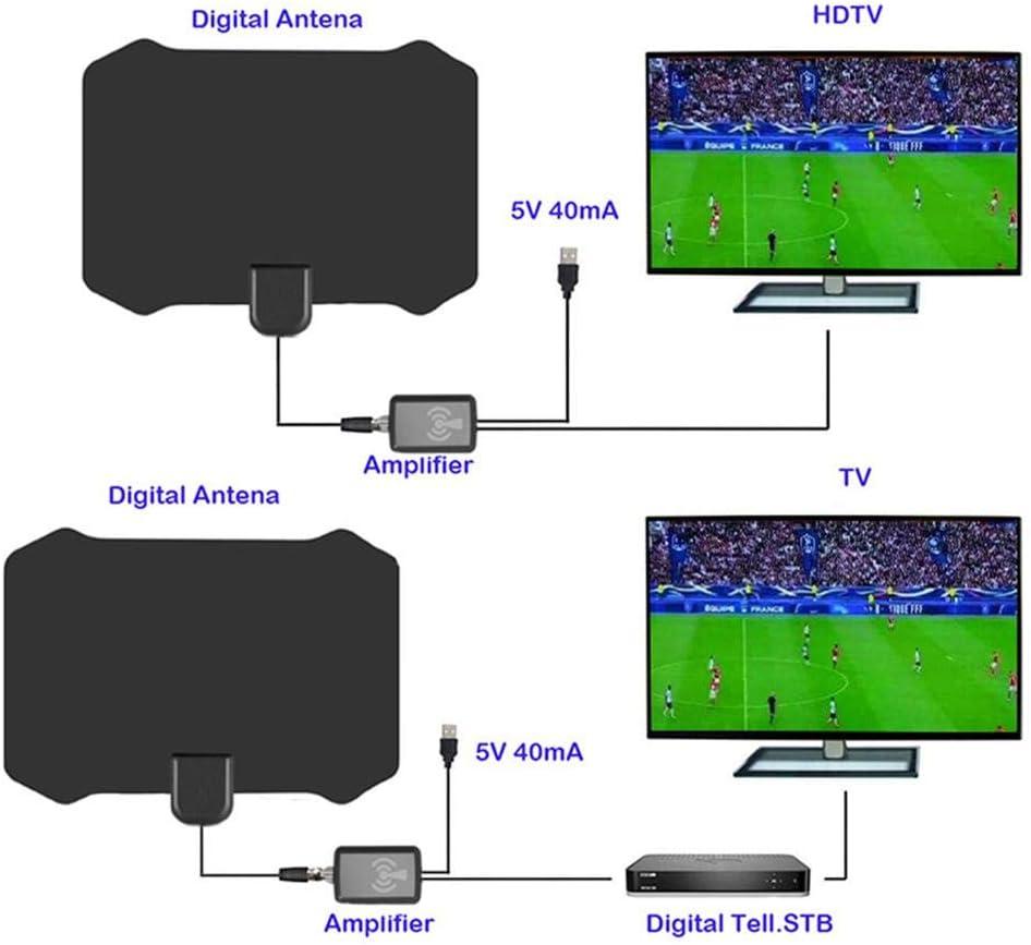 Antena TV Interior Potente, 120 Miles TV Antena Digital Interior ...