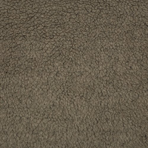 Shannon Fabrics Sherpa Faux Fur Fabric by The Yard, Taupe ()