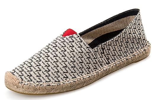 Women's Men's Unisex Slip On Espadrilles Flat Loafers Shoes
