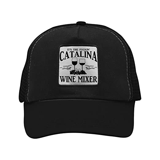 ff58b1a83851e Image Unavailable. Image not available for. Color  BBSOFE Fuckin  Catalina  Wine Mixer Adult Mesh Caps Adjustable Trucker Baseball ...