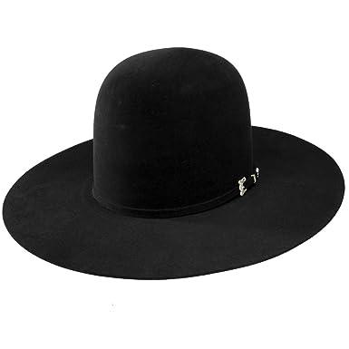 544b61d8a2fe5 Resistol Mens 20X Black Gold 4 1 4 Brim Open Crown Felt Cowboy Hat ...