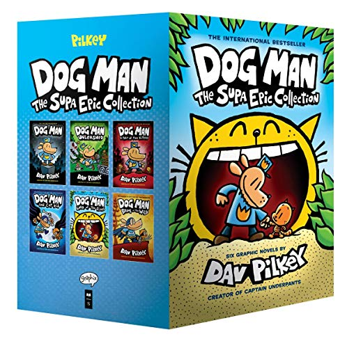 Book cover from Dog Man: The Supa Epic Collection: From the Creator of Captain Underpants (Dog Man #1-6 Boxed Set) by Dav Pilkey