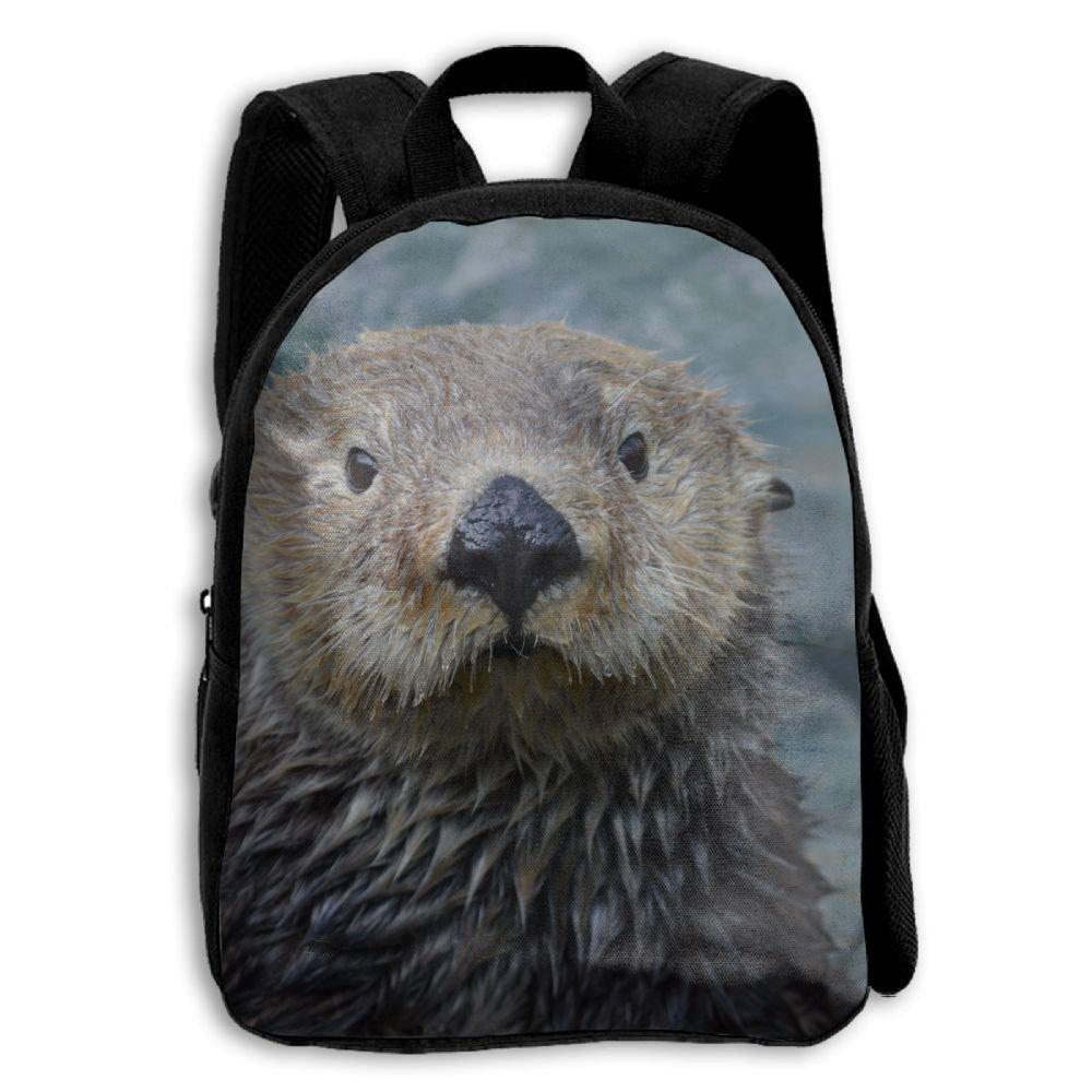 YEWEI My Otter 男女兼用 3Dプリント ワイドジッパー 学校 旅行バッグ ショルダーバッグ 子供用バックパック   B07GDDK71G