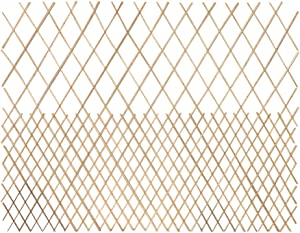 Master Garden Products Peeled Willow Top Open Pattern Lattice Fence, 72 by 48-Inch, Light Mahogany Color