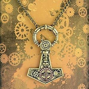 Apopo Punk Necklace Gear Chain Sweater Pendant
