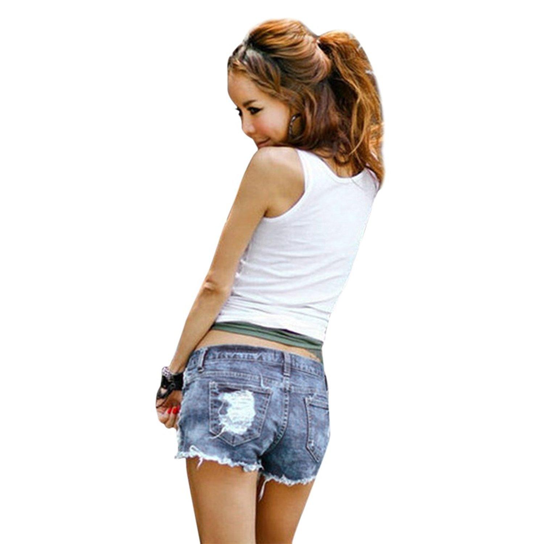 Lisli Women Distressed Ripped Hole Denim Jeans Shorts Pants Hot Mini Shorts