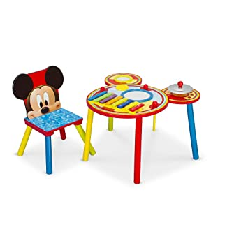 Amazon.com: Disney Mickey Mouse Musical Table and 1 Chair: Toys & Games