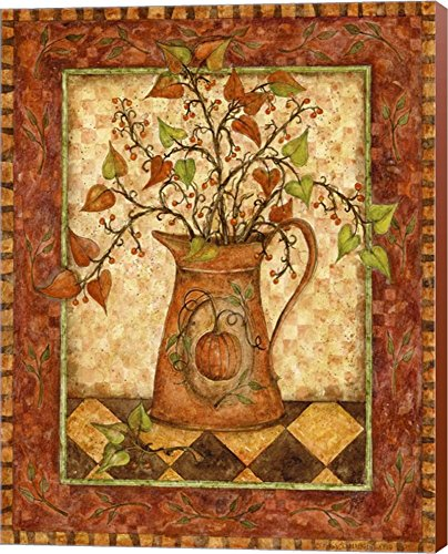Pumpkin Pitcher by Robin Betterley Art Wall Picture - Pumpkin wall art