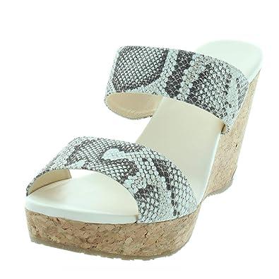 d67afef506c JIMMY CHOO Womens Parker Snake Print Wedge Wedge Sandals Multi 42 Medium  (B