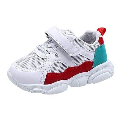 7a35313bfc45 HLIYY Garçon Fille Chaussures de Sport Course Chaussures de Outdoor Sneakers  Mode Basket Chaussure de Course