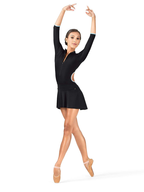 MariiaレディースPolina高低快適バレエPull Onスカート ブラック Small