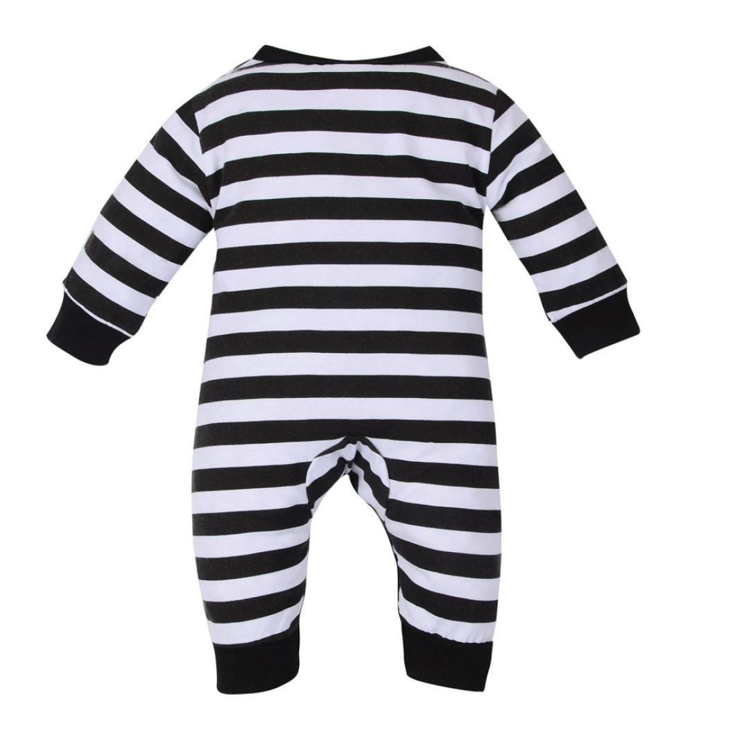 Amazon.com: kollmert Unisex Baby Penguin Stripe Jumpsuit ...