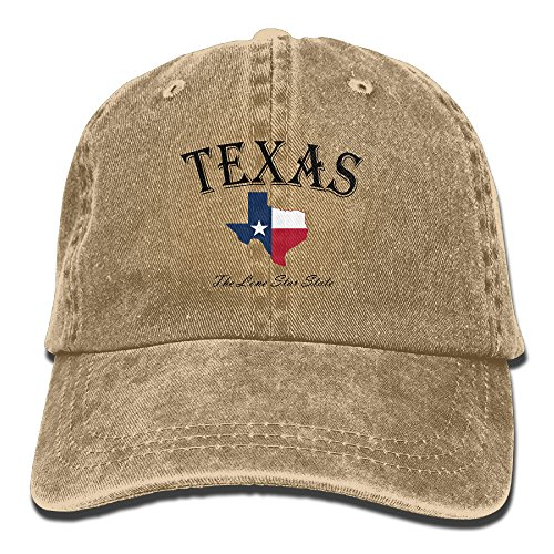 HDRAY Unisex Adult Texas Lone Star State Washed Denim Cotton Sport Outdoor Baseball Hat Adjustable One Size