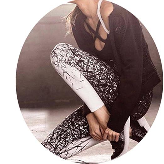 Amazon.com: elepbaba Yoga Pants Women Sports Clothing Chinese Style Printed Yoga Leggings Fitness Yoga Running Tights: Clothing