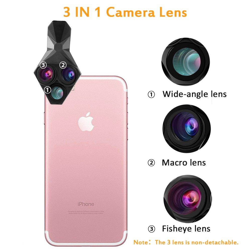 competitive price 717e9 7fe0b iPhone X Lens, 4K HD /[0.65X/] Wide Angle, 15X Macro, 180° Fisheye