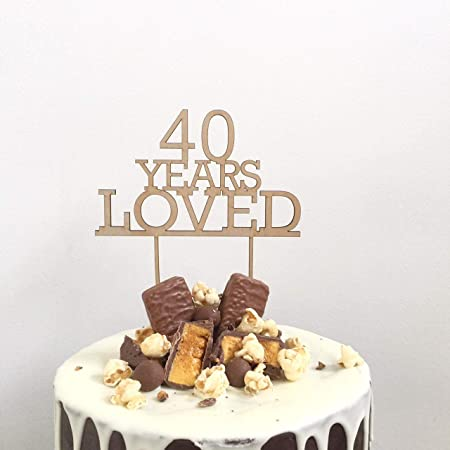 Monsety Decoración para Tarta de cumpleaños 40 años 40 años ...