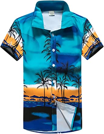 Camisas Hombre Elegantes Camisa Hawaiana Playa De Verano Manga Corta Cuello Solapa Un Solo Pecho Moda Casual Tops Blusas para Mujer Hombre Unisex: Amazon.es: Ropa y accesorios