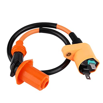 Motorcycle Ignition Coil Black Ignition Coil for GY6 50CC 125CC 150CC Engine Motorcycle Dirt Bike Scooter Moped