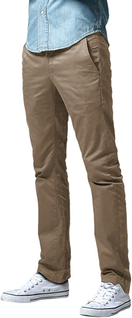 Match Mens Athletic Fit Straight Leg Casual Pants