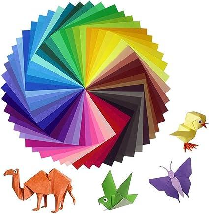 Euone Papel Hecho a Mano, 200 Hojas de Papel de Origami, 2 ...