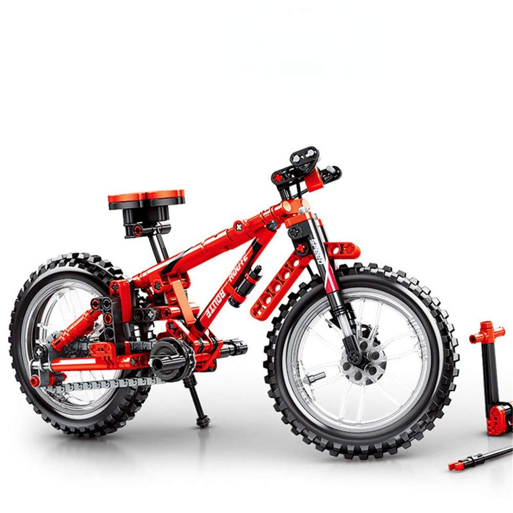 Children 3-12 Years Old Children Mountain Bike Model Building Blocks Assembling And Inserting Plastic Boy Toys Early Education Puzzle Building Blocks Toys ( Color : Multi-colored , Size : One size )