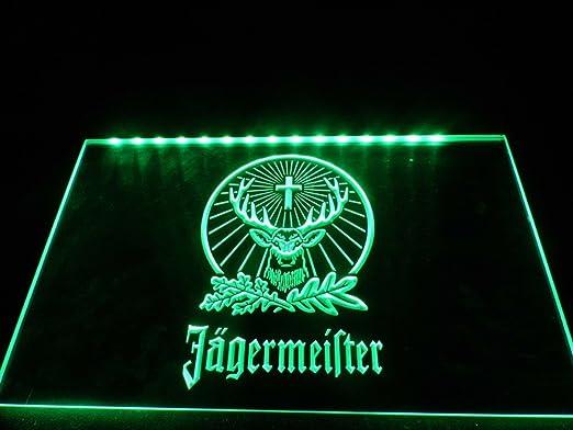 Amazon.com: LED Luz de Neón Signo Jagermeister colgar ...