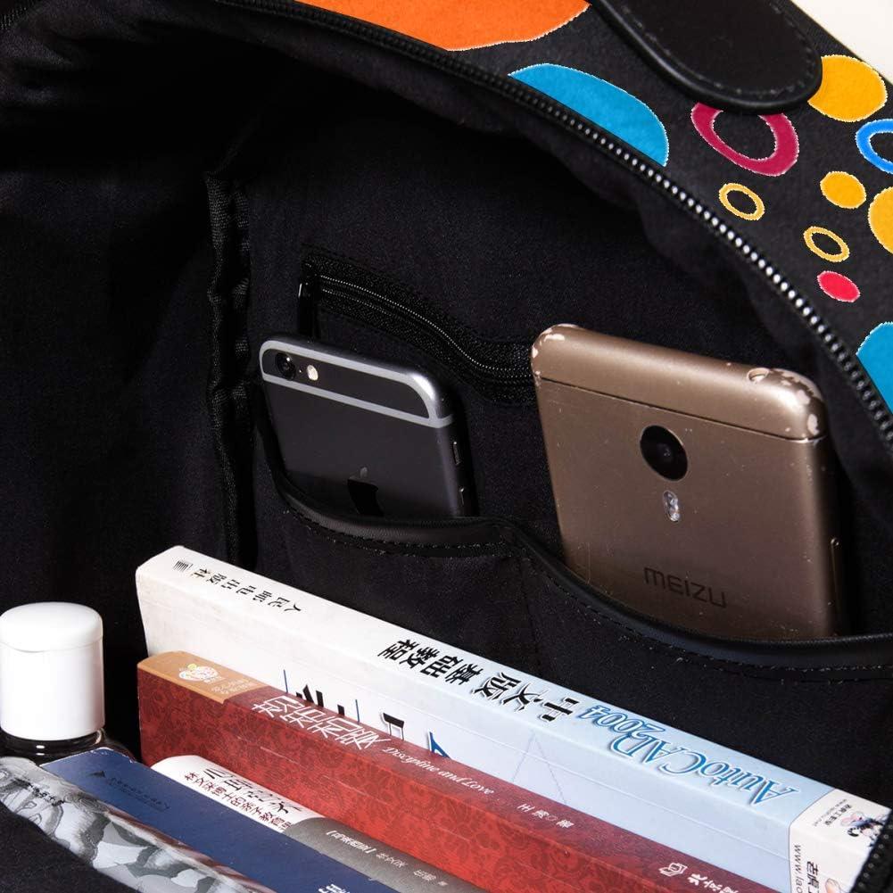 Lightweight MAPOLO Laptop Backpack Circle Casual Shoulder Daypack for Student School Bag Handbag