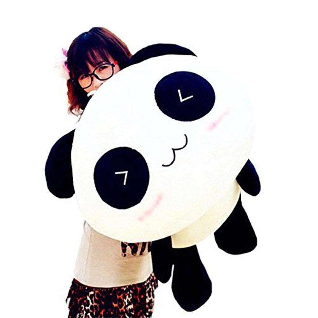 Yosemite Peluche adorable en forme de panda géant Douce comme un oreiller Idée cadeau, Noir+Blanc, 25 cm