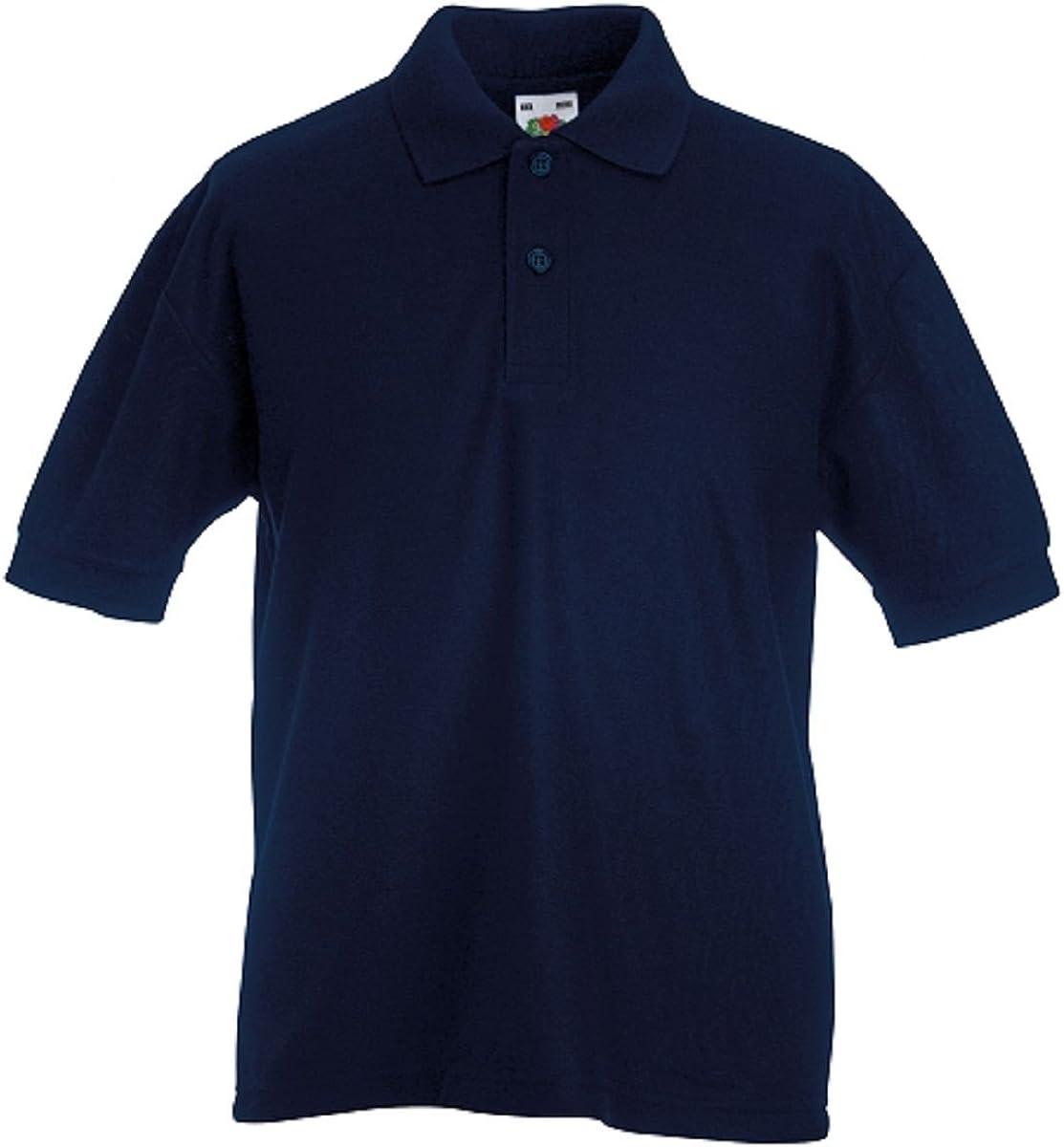 Fruit of the Loom Pique Polo - Camiseta para niño 3 Pack Deep Navy. 9-11 Años: Amazon.es: Ropa y accesorios