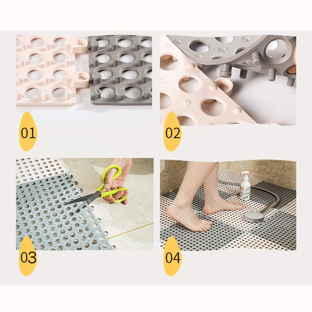 ZXT PVC Badezimmermatte Sicherheit Sicherheit Sicherheit Rutschfeste Nähen DIY Küche Badezimmermatte Wasserdichte Entwässerung Bodenfüße Badezimmermatte 30x30 cm (Farbe   H, größe   10pcs) B07Q3HS5S6 Duschmatten 5d544b