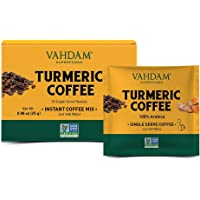 VAHDAM,?Turmeric + Coffee Superfood Elixir Mix - 10 Servings | Instant Coffee Mix with Turmeric | Arabica Coffee blended with Active Turmeric | Vegan, Keto- Friendly, NON- GMO