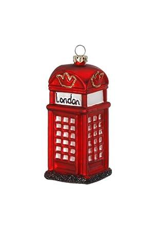 Amazon De Inge Glas Christbaumschmuck Londoner Telefonzelle 11cm