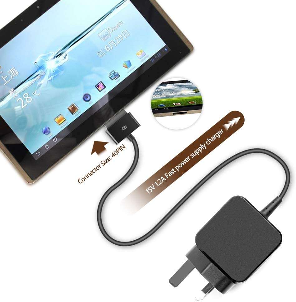 Original OEM ASUS ADP-18AW Cord//Charger Eee Pad Transformer TF700T-B1-GR Tablet