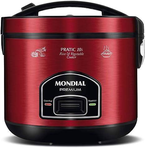 Panela Elétrica de Arroz, 10 xícaras, 127V, Vermelho, Mondial - PE-46-10X:  Amazon.com.br: Cozinha