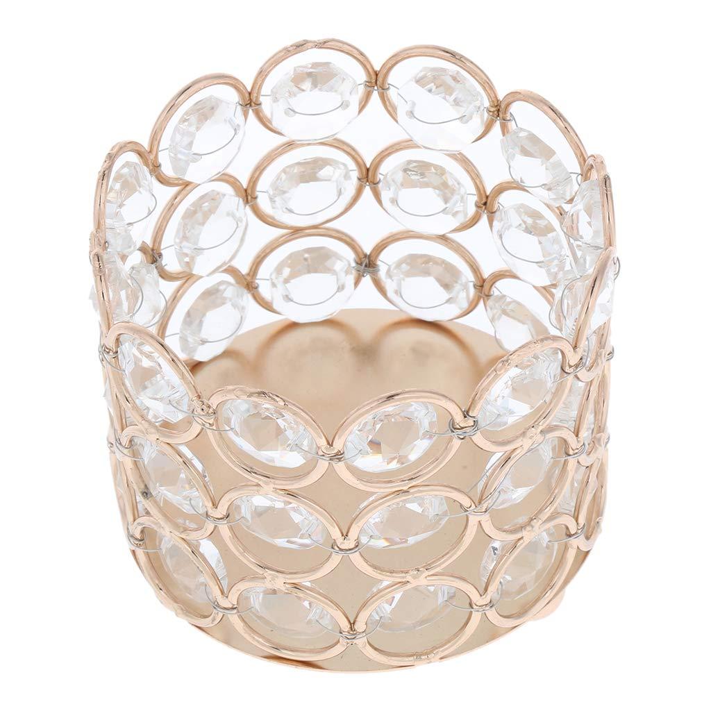 Sharplace Set De 4X Porte-Bougie Votive Strass Crystal Globe Romantique Lumi/ère D/écor