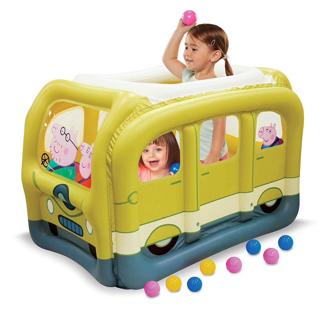 Peppa Pig Family Van Ball Pit, 1 Inflatable & 50 Sof-Flex Balls, Yellow, 43'' W x 43'' D x 38'' H