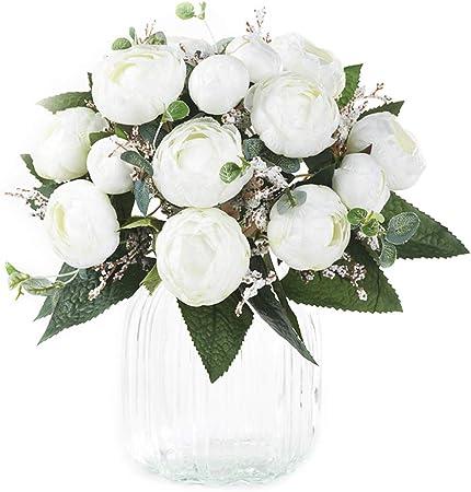 Immagini Di Bouquet Da Sposa.Xonor 2 Pezzi Bouquet Da Sposa Artificiale Fiori Di Camelia Fiori
